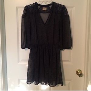 Urban Outfitters Pins & Needles Navy Sheer Dress S